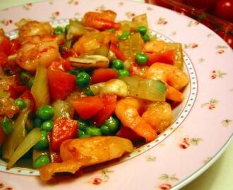 Stir-fried Shrimps With Vegetables