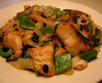 Stir-fried Fish with Black Beans
