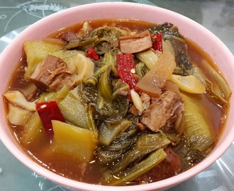酸辣芥菜 (Chinese Braised Mustard Green)