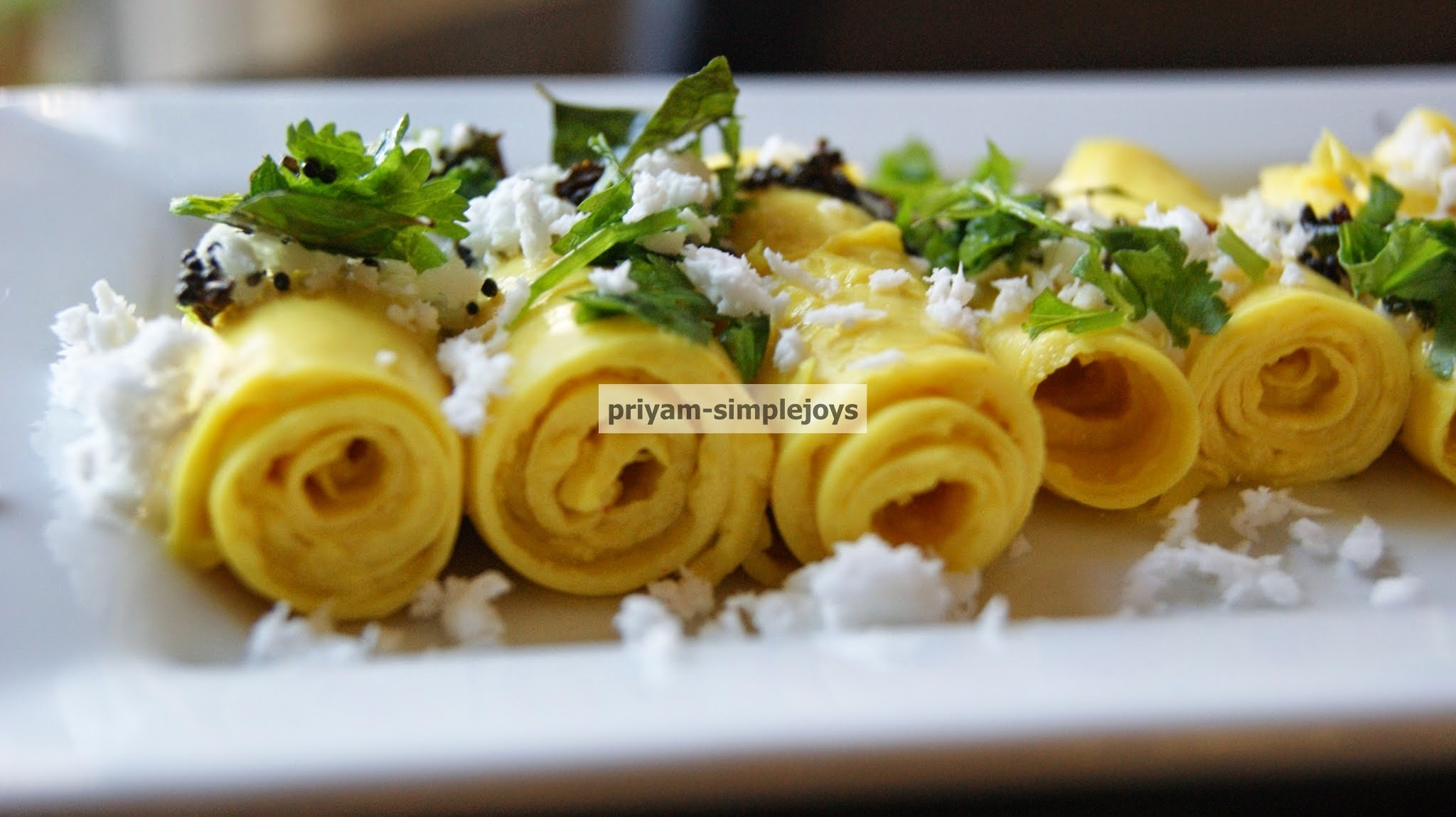 Khandvi (Indian snack)