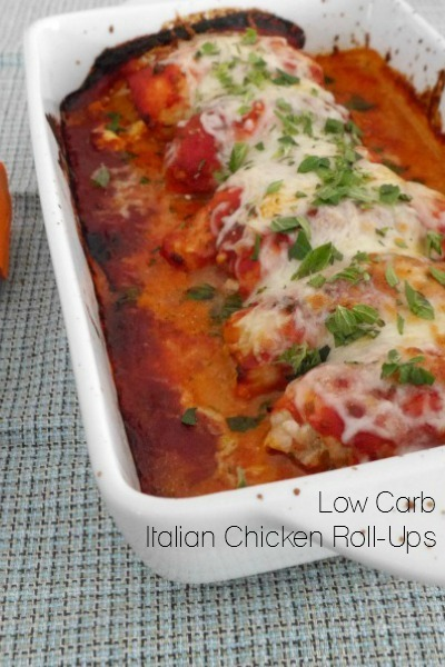 Low Carb Italian Chicken Roll-Ups