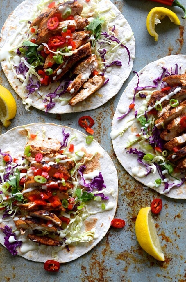 dianne wrote a new post, Chicken tacos with slaw salad and a lemony buttermilk - mayo dressing, on the site bibbyskitchenat36.com