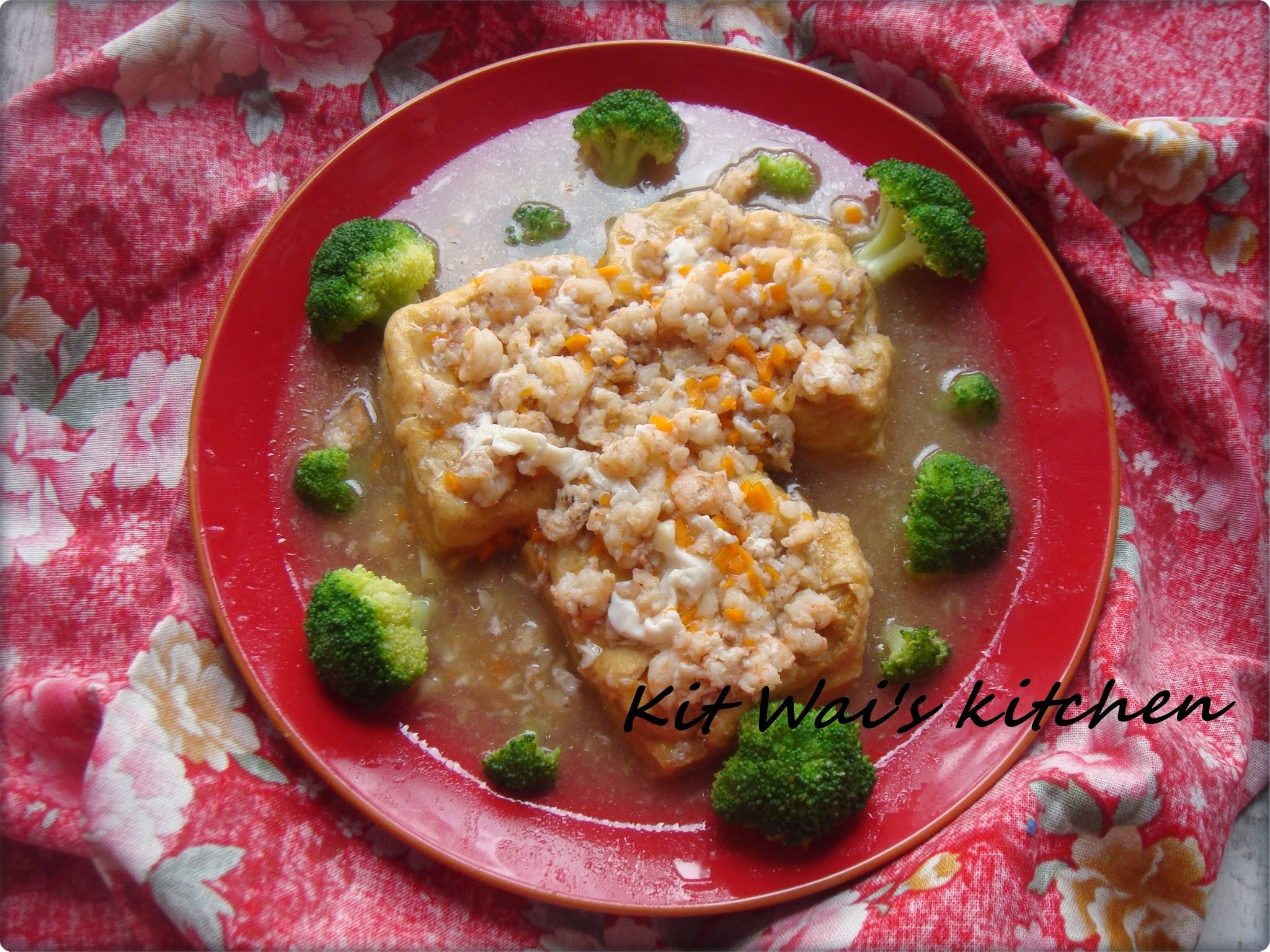 彩云豆腐 ~ Tofu in Creamy Egg Sauce