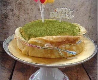 法式绿茶芝士千层蛋糕 ~ French-style Green Tea Cheese Mille Crepes