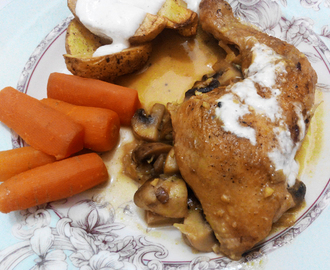Recipe: Chicken Mushroom with Mustard sauce