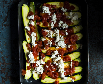 Baby Marrow and Ricotta Bake