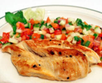 Grilled Chicken with Spicy Salsa #ChickenWorld