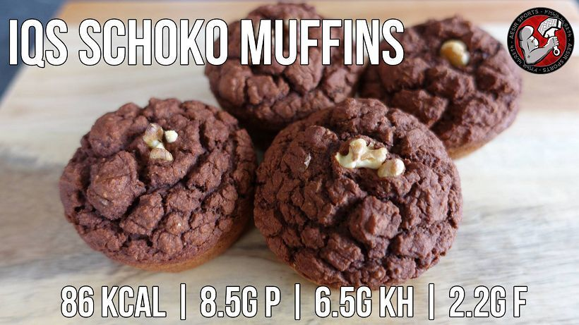 Schoko Protein Muffins | Low Carb Snack