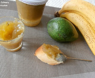 Confiture avocat bananes (Banana avocado jam)