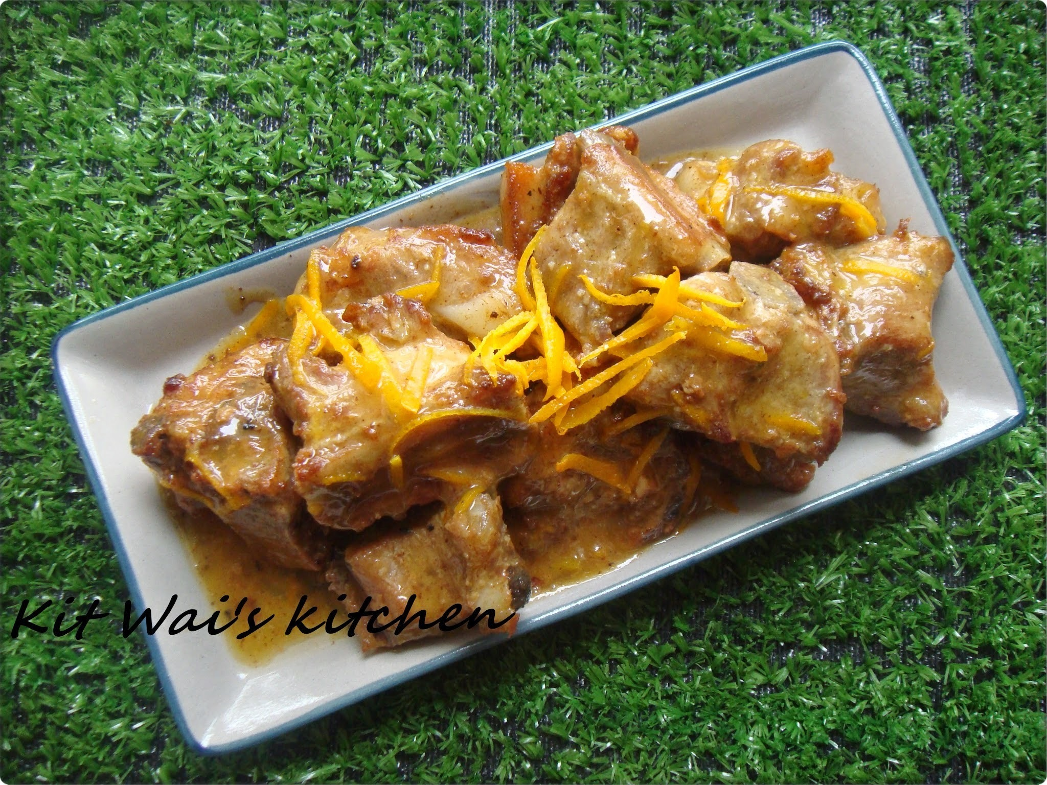 橙汁排骨 ~ Spare Ribs with Orange Sauce