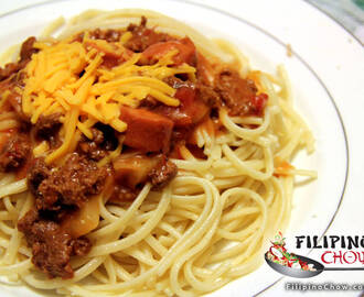Filipino Spaghetti with Meat Sauce