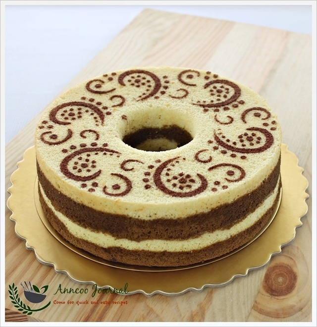 Orange Chocolate Chiffon Cake