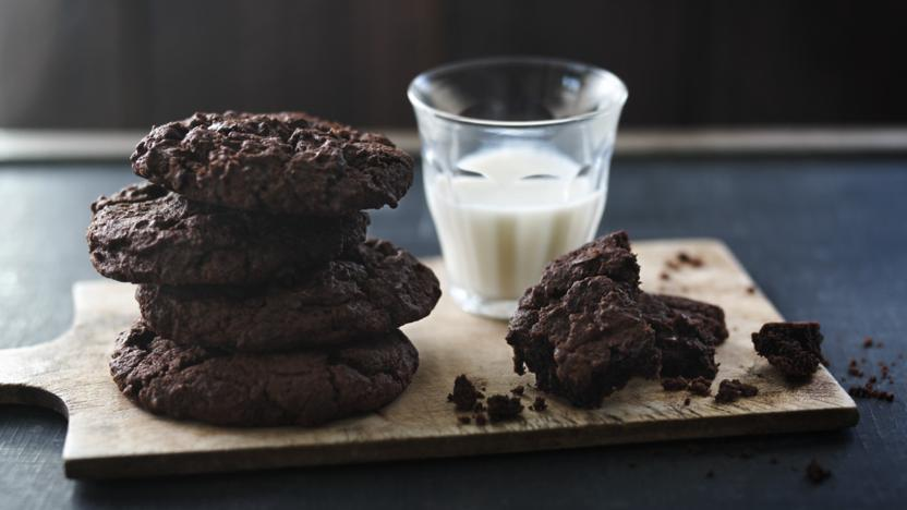 Intense chocolate cookies