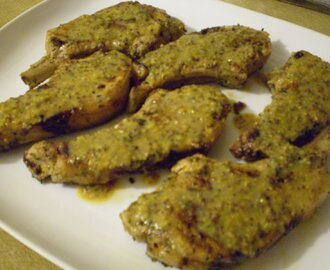 Honey, Mustard and Whiskey Glazed Pork Cutlets