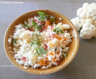 Taboulé de chou-fleur, tomates multicolores et basilic (Cauliflower tabbouleh, multicolored tomatoes and basil)