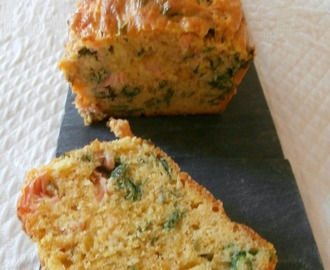 Cake saumon fumé, persil, coriandre et curry (Cake smoked salmon, parsley, coriander and curry)