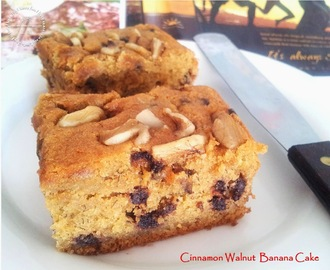 Moist Cinnamon Walnut Banana Cake