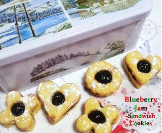 Fill the Tins with Blueberry Jam Sandwich Cookies
