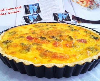 Smoked Ham and Cheddar Quiche