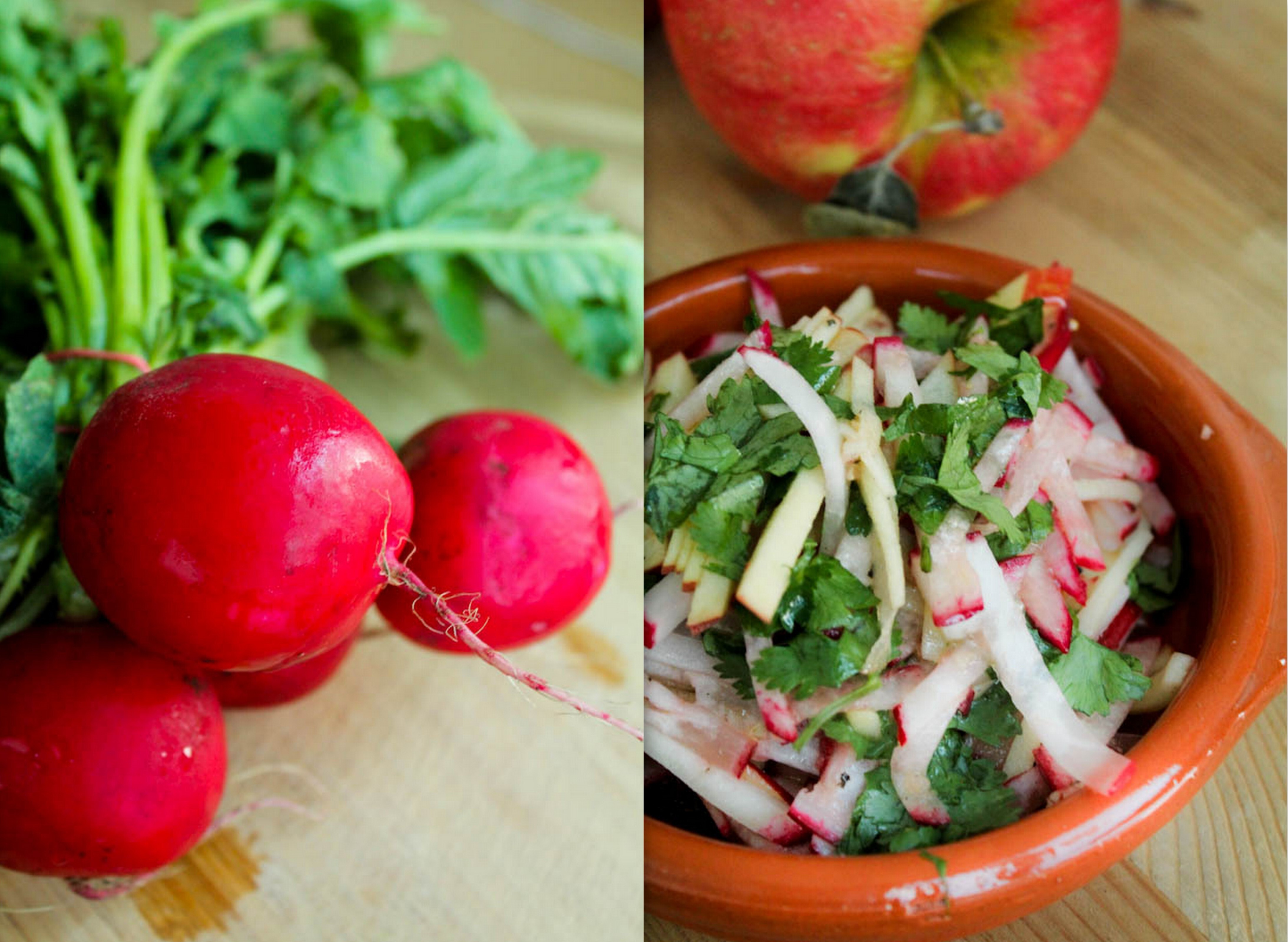 Apple Radish Salad with a Ginger Lime dressing