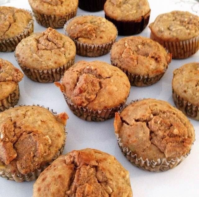 Apple, banana and peanut butter Muffins