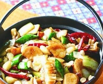 Kung Pao Squid pot