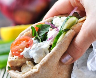 Slow Cooker Greek Chicken Gyros
