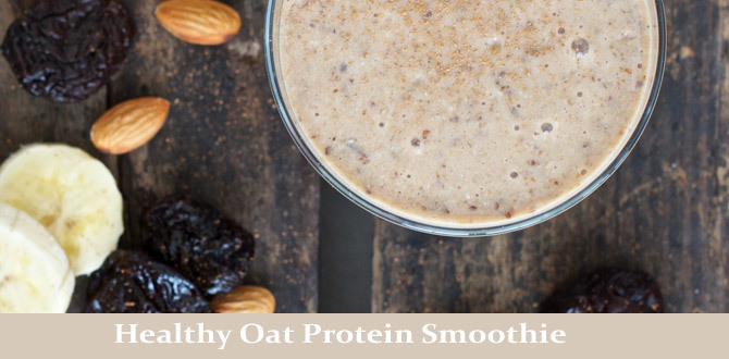 Oat Protein Smoothie to start a healthier New Year