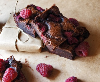 Malinové Brownies / Raspberry Brownies