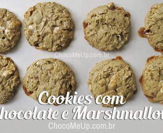 Receita de Cookies com Chocolate e Marshmallow