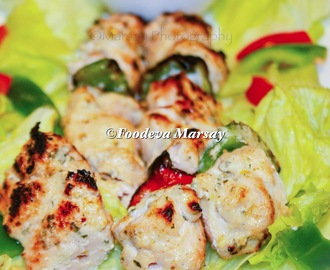 Chicken Shish Taouk with a Yoghurt and Mint Sauce