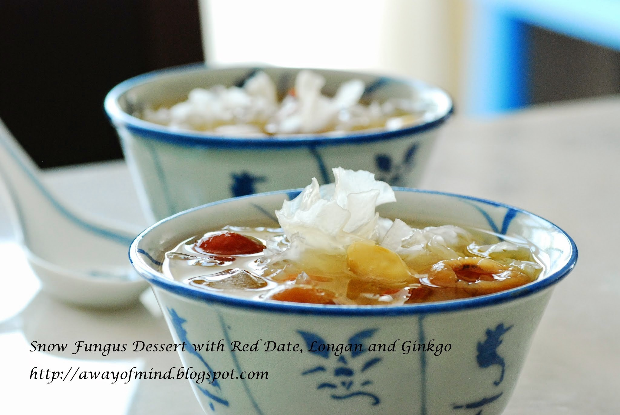 Snow Fungus Dessert with Red Date, Longan and Ginkgo 白果银耳红枣龙眼糖水