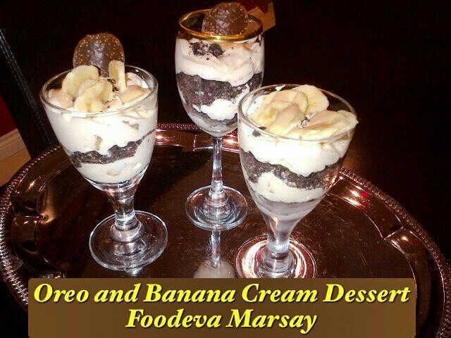 Oreo and Banana Cream Dessert