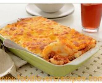Chicken and mushroom pap lasagne