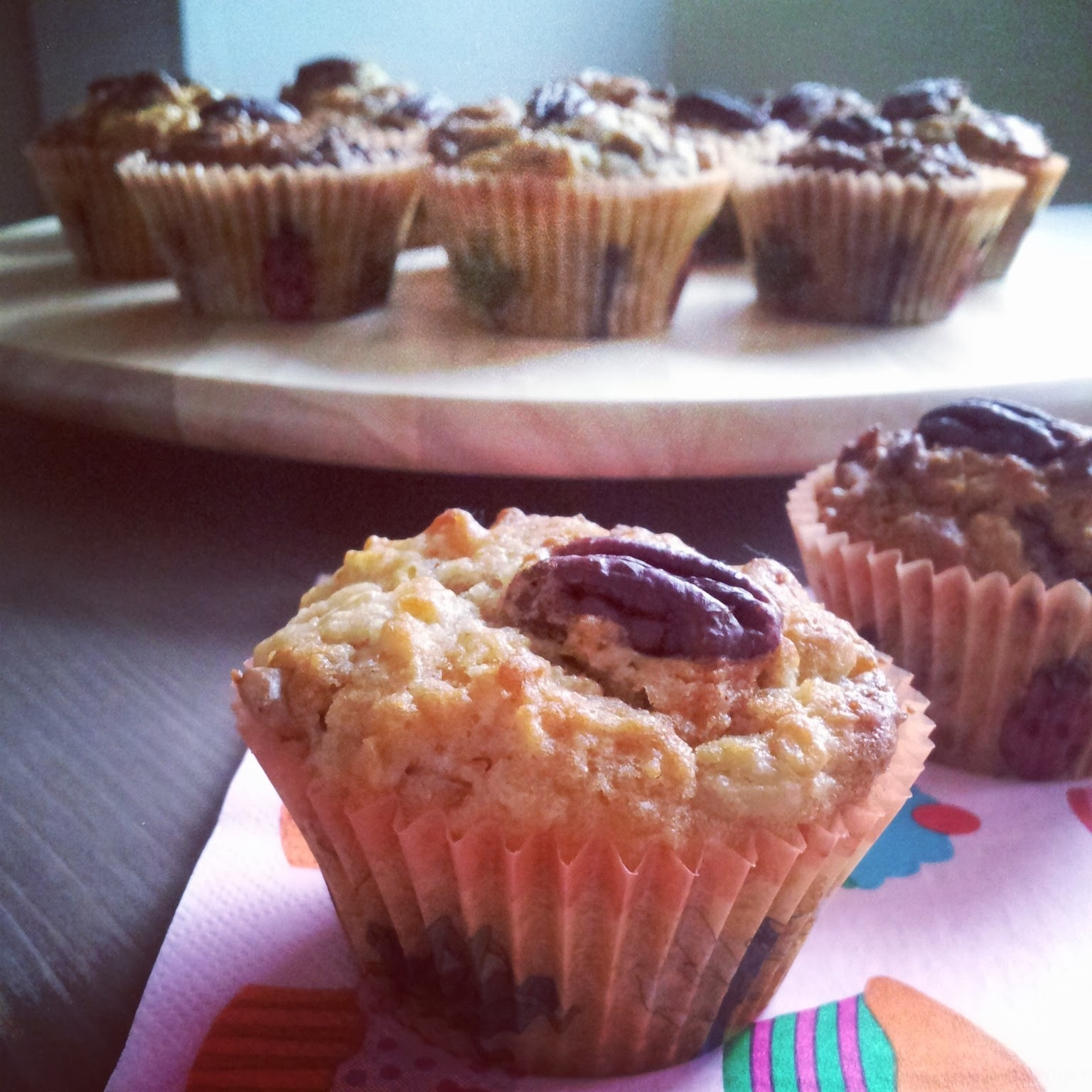 Tvarohové muffiny s ořechy / Muffins from quark with nuts