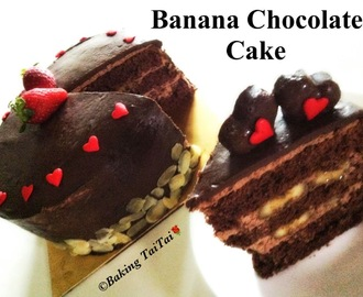 Baking's Taitai's Signature Dark Chocolate Banana Cake