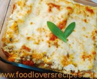 BUTTERNUT AND GORGONZOLA LASAGNA
