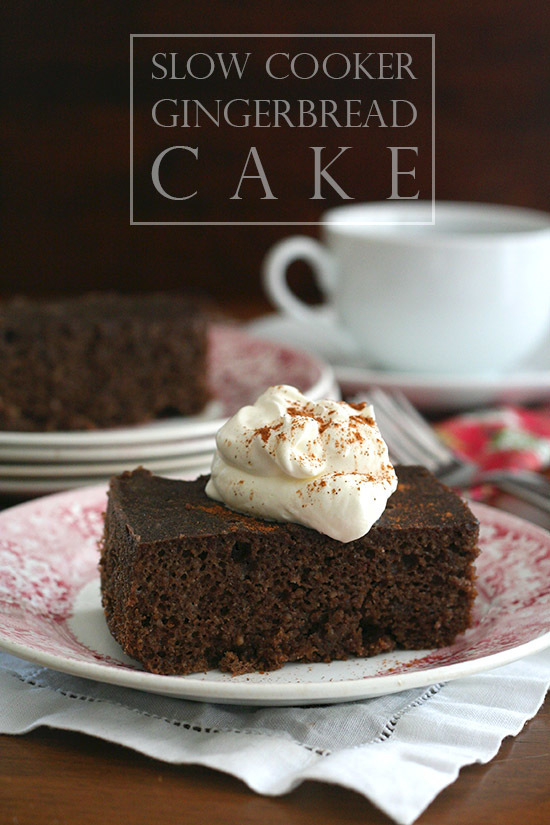 Slow Cooker Gingerbread Cake and World Diabetes Day