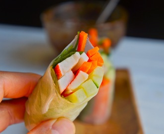 Imitation crab summer rolls