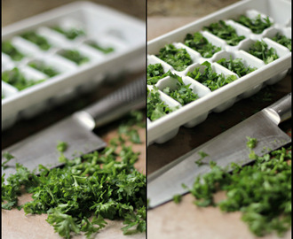 How To Freeze Herbs for #SundaySupper