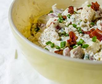 Blue Cheese Potato Salad with Scallions and Bacon If summer had...