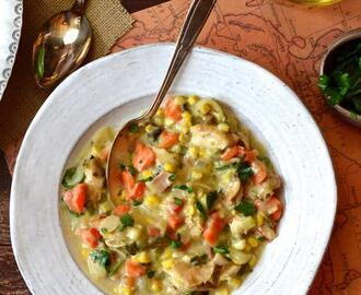 Mexican Chicken Poblano Chowder
