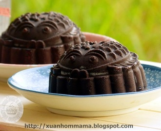 榴莲巧克力冰淇淋月饼 (Durian Chocolate Ice-Cream Moon Cake)