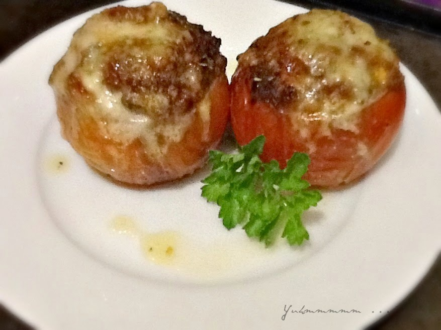 Tomatoes stuffed with Mince Meat ...