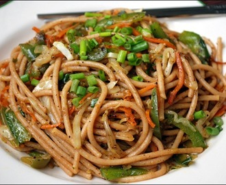 Chinese Recipe For Fried Vegan Spaghetti! Yum!