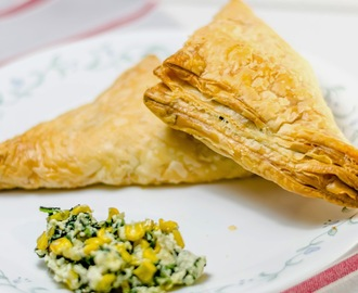 Greek Spanakopita: Spinach Corn Ricotta Puffs
