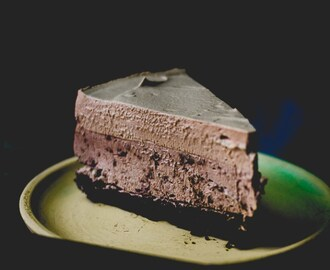 Triple Layer Hazelnut Mocha Chocolate Mousse Cake