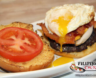 Bacon Cheeseburger with a Fried Egg on Top