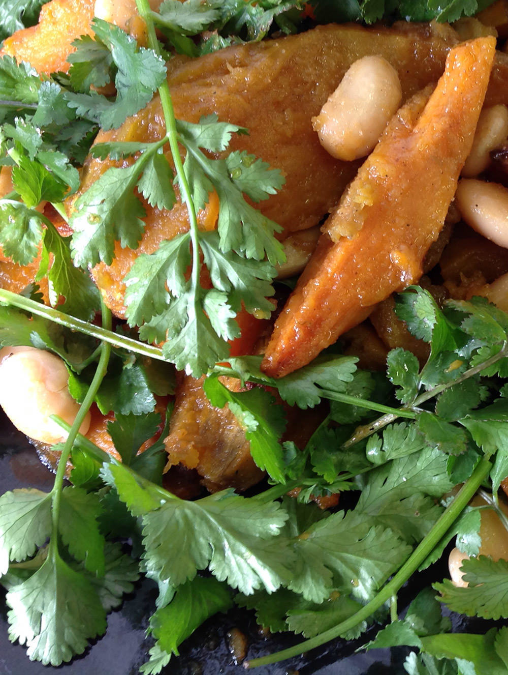 Cafe Bloom's Roast Butternut and Ginger Butterbean Salad