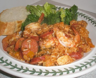 Jambalaya- Hot links, Chicken & Shrimp